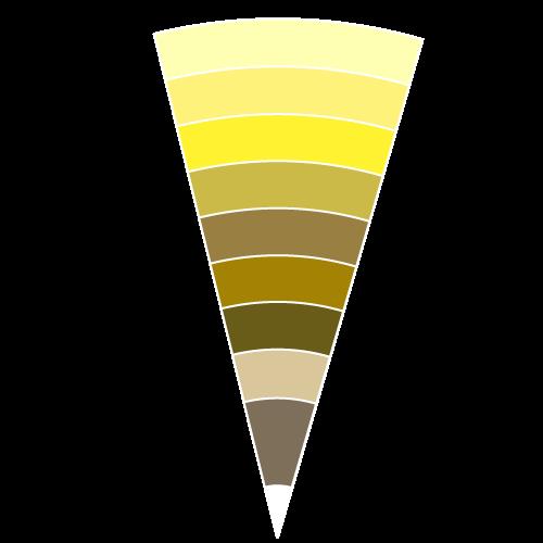 ■同じ色の濃淡で色を組みあわせる